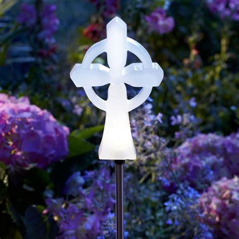 solar light cross for to it moonrays memorial cross solar stake light