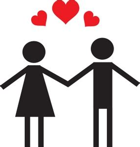 Clipart Of Couples clipart image a and figure in and holding