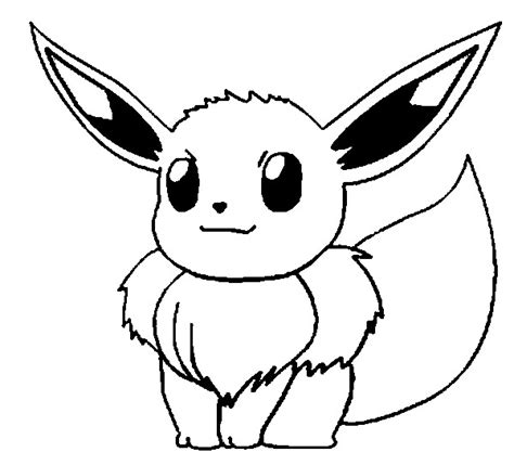 Coloring Pages Pokemon Eevee Drawings Pokemon Eevee Coloring Pages