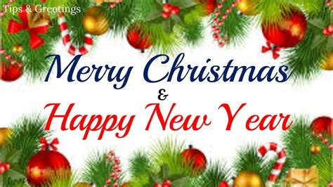 merry christmas happy  year   wishes animated greeting video youtube