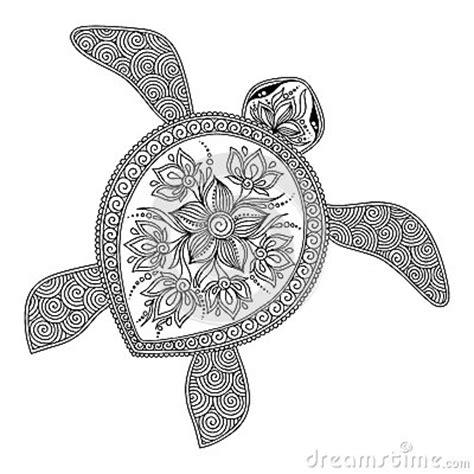 turtle mandala coloring pages printable modello per il libro da colorare tartaruga grafica