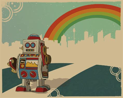 classic robot wallpaper retro robot wallpaper wallpapersafari