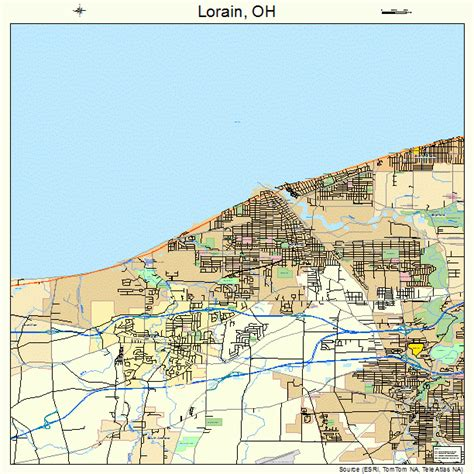 map of lorain ohio lorain ohio map 3944856