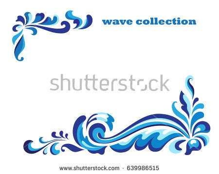 Wedding Decoration Gold And White Rectangle Frame Corner Swirl Ornaments Blue Stock Vector