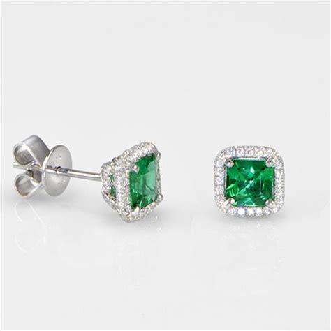 25 best ideas about emerald earrings on green