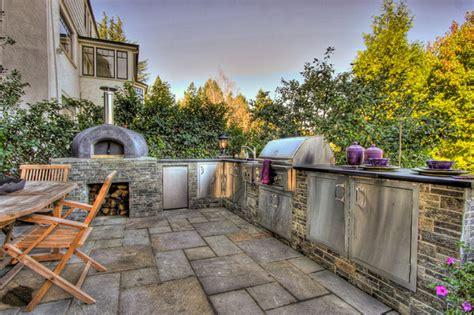 outdoor kitchen designs with pizza oven outdoor kitchen pizza oven mediterranean landscape