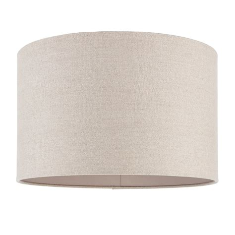 Cylindrical L Shade by Endon Lighting Obi 16 Inch Linen Cylindrical Shade
