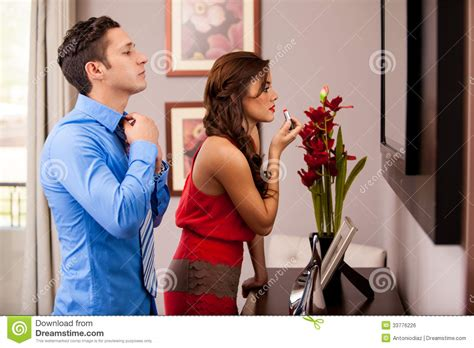 getting ready for getting ready for a date stock photo image of getting