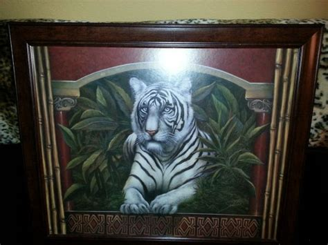 home interior tiger picture white tiger picture frame espotted