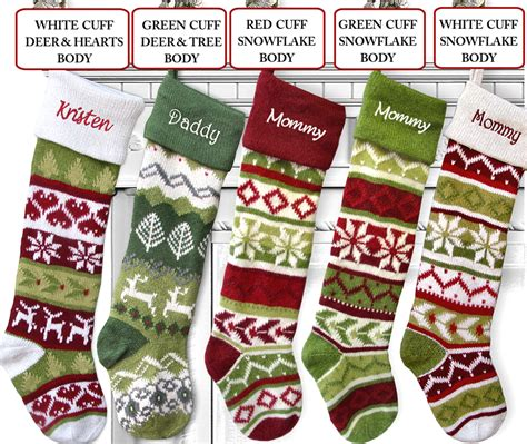 Wonderful Christmas Stocking With Cuff Pattern #9: 28-quot-large-personalized-knitted-stockings-fair-isle-knit-embroidery-5.gif