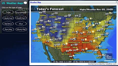 us weather on map dual layer dvd weather maps