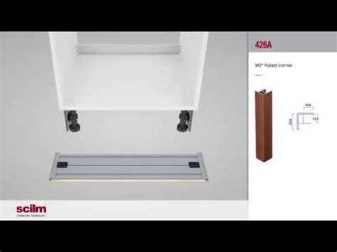 montaje  zocalos rodapie de pvc aluminio en muebles de cocina youtube