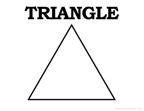 printable shapes triangle free coloring pages of shape triangle
