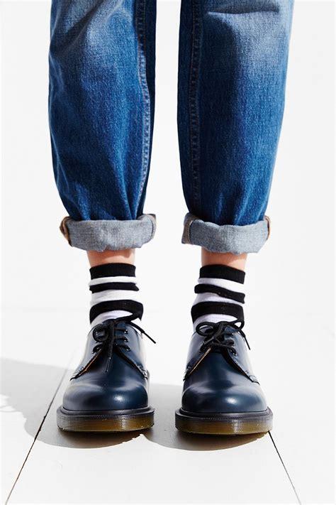 sepatu dr martens low leather 03 dr martens 1461 pw 3 eye oxford in blue lyst