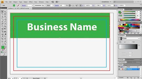 adobe card template preparing adobe illustrator for business card printing