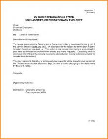 letter of termination template doc 7281031 sle letter ending work contract