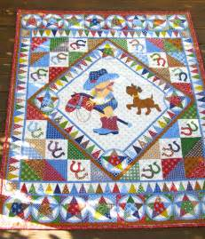 Cowboy quilt baby boy quilt vintage baby quilt by blacktulipquilts