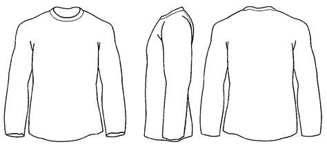 White Long Sleeve Shirt Mock Up Blank Free Template T Qarandoon Info Blank Sleeve T Shirt Template