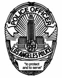 lapd police badge typography pinterest police police badges and
