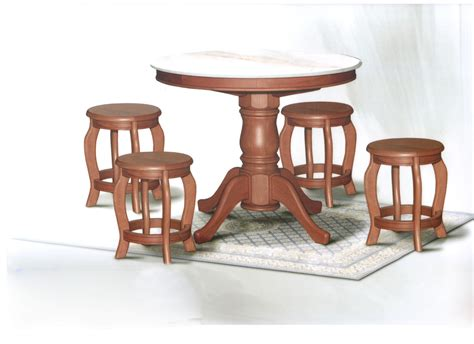 3ft dining table sets dn788 marble dining table 3ft 4 stools set