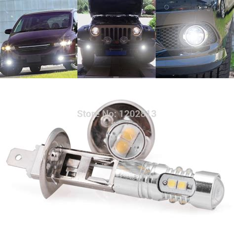 Led Projector Lens Zt Power 2x high power 50w 6000k cree xb d chips led h1 projector lens fog driving light bulb for