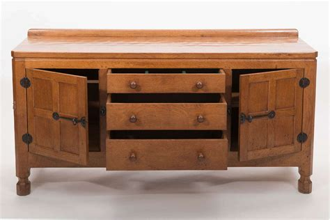 Thompson Furniture by Robert Mouseman Thompson Oak Sideboard At 1stdibs
