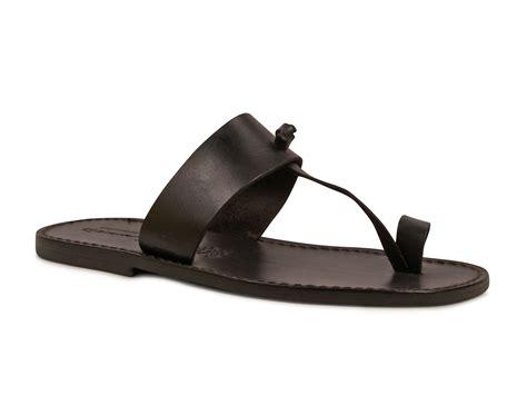 Handmade Mens Sandals - handmade black genuine leather sandals for mens made