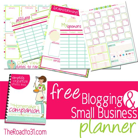 printable planner for business free blogging and small business planner subscriber