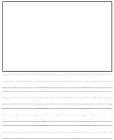 Kindergarten Writing Paper With Picture Box Printable Kindergarten Writing Journal Paper Submited Images