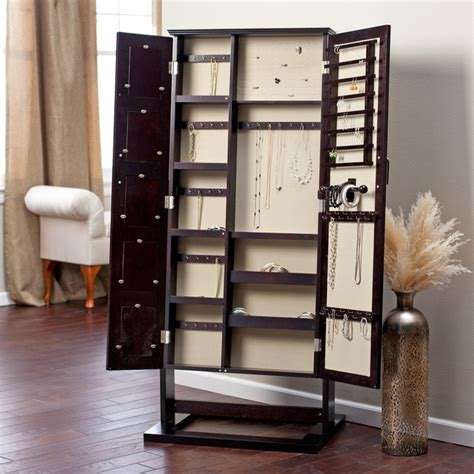espresso jewelry armoire cheval mirror belham living photo frames jewelry armoire cheval mirror