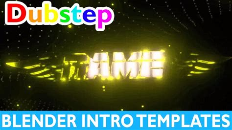 Top 10 Blender Dubstep Intro Templates 2017 Free Download Gaming 2d Fast Render Youtube Blender Intro Templates 2017