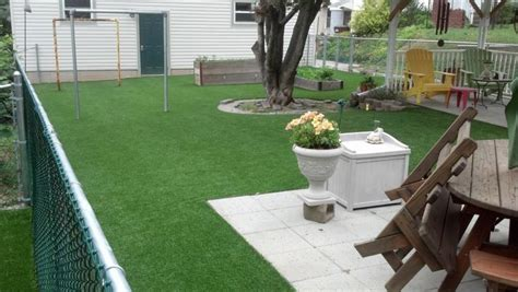 Astro Turf Backyard by Setting Up An Artificial Lawn Yard Homes Design