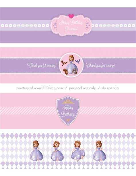 sofia the water bottle labels sofia the free printables sofia water label