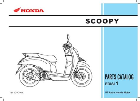 Sparepart Honda Scoopy honda scoopy parts manual