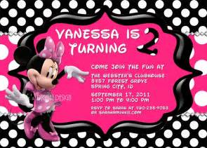 minnie mouse invitations birthday pink polka dot photo
