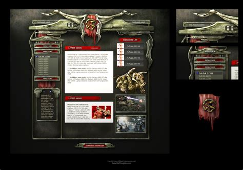 game website layout alien sci fi game web template by karsten on deviantart