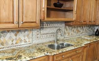 Kitchen Backsplash Medallions Travertine Backsplash For Kitchen Designs Backsplash Com