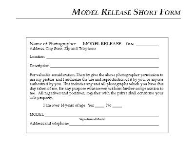 photography model release form template model release forms yates photography
