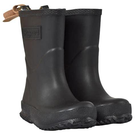 bisgaard rubber boot black babyshopcom