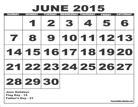 printable monthly calendar for june 2015 2015 free printable calendars free printable calendars