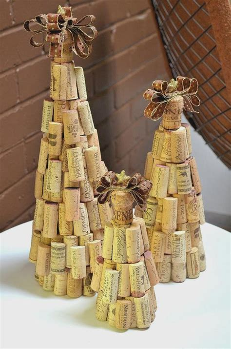 cork christmas tree rustic cork tree