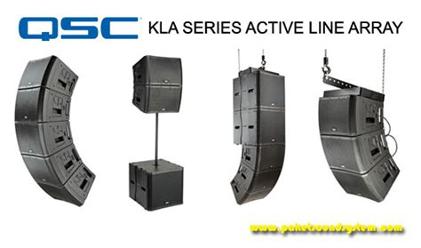Speaker Aktif Line Array paket sound system line array aktif qsc seri kla paket sound system profesional indonesia
