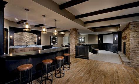 basement bar pendant lighting 20 beautiful basement designs with wooden floors light