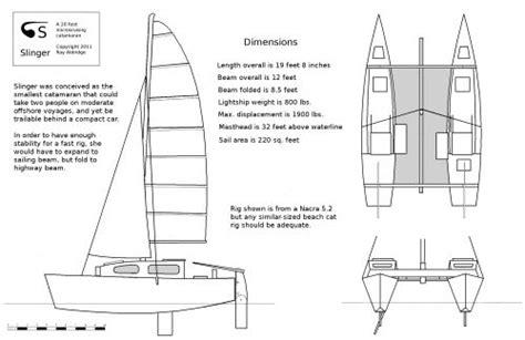 a class catamaran dimensions a 20 foot cruising catamaran ray aldridge s slinger