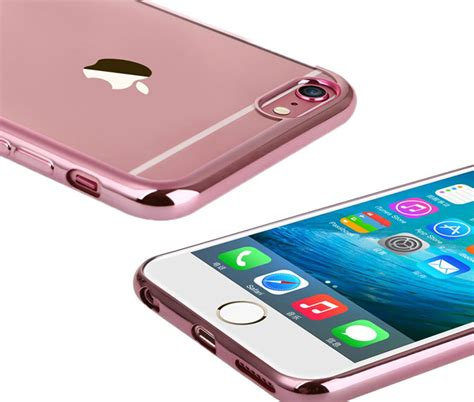 New Iphone 6 6s Plus Simple Luxury Shining Tpu Soft Gold Mur thiki iphone 6 roz xrysi itrend 1