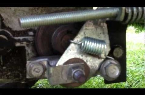craftsman lawn tractor brake assembly  adjustment youtube craftsman riding lawn mower