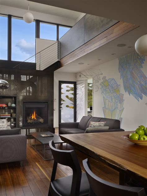 beet room beet residence modern living room seattle by chadbourne doss architects