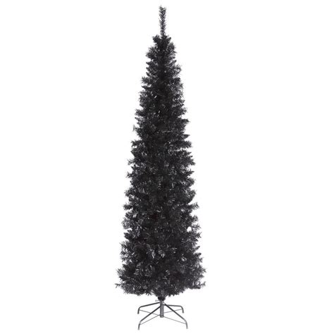 national tree company 6 ft black tinsel artificial