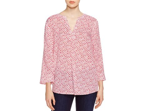 lunch lounge print blouse in pink lyst