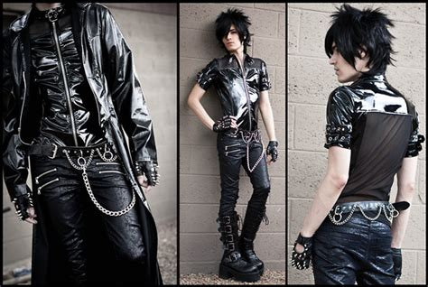 lip service spiked vinyl trench kyris demonia buckled platform boots balls of